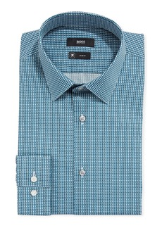 Hugo Boss Men's Travel Micro-Diamond Dress Shirt