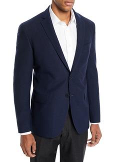 Hugo Boss Men's Wool-Cotton Knit Two-Button Jacket