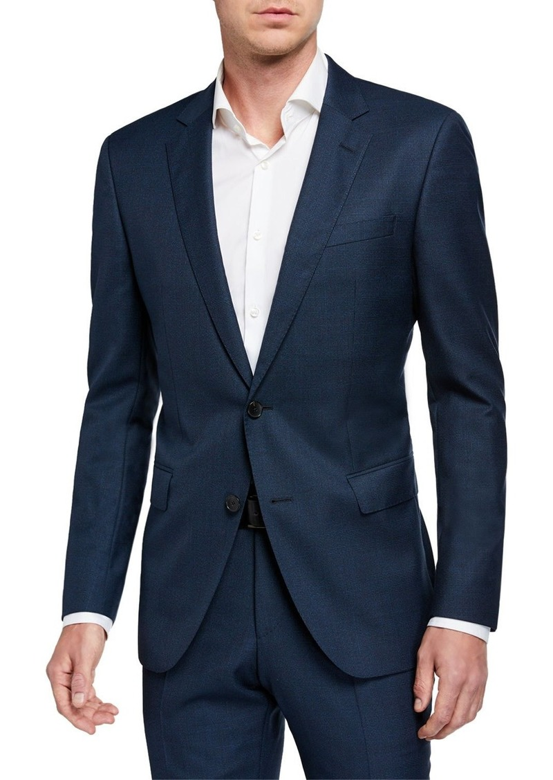 Hugo Boss Men's Wool Shadow Plaid Two-Piece Suit