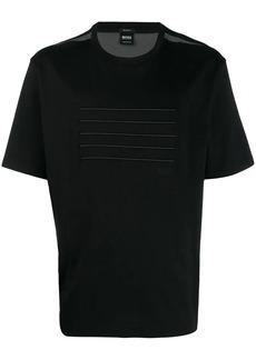 Hugo Boss mesh detail T-shirt
