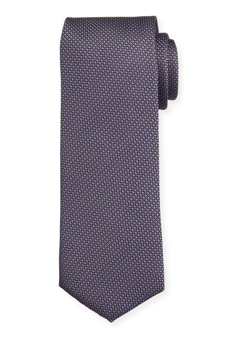 Hugo Boss Micro-Pattern Silk Tie