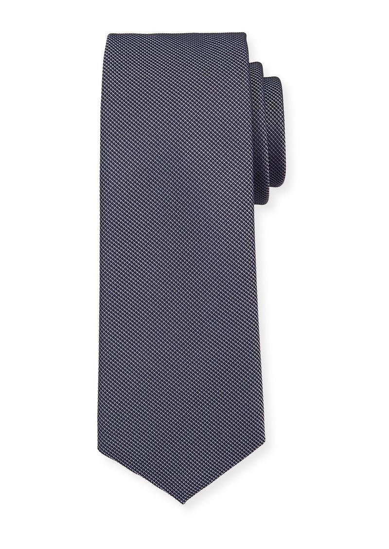 Hugo Boss Micro-Pattern Silk Travel Tie