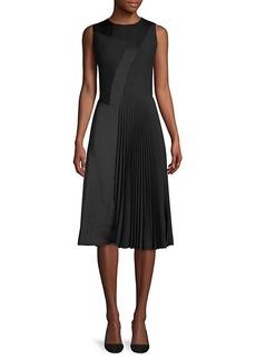 Hugo Boss Micro Sleeveless Plisse Dress