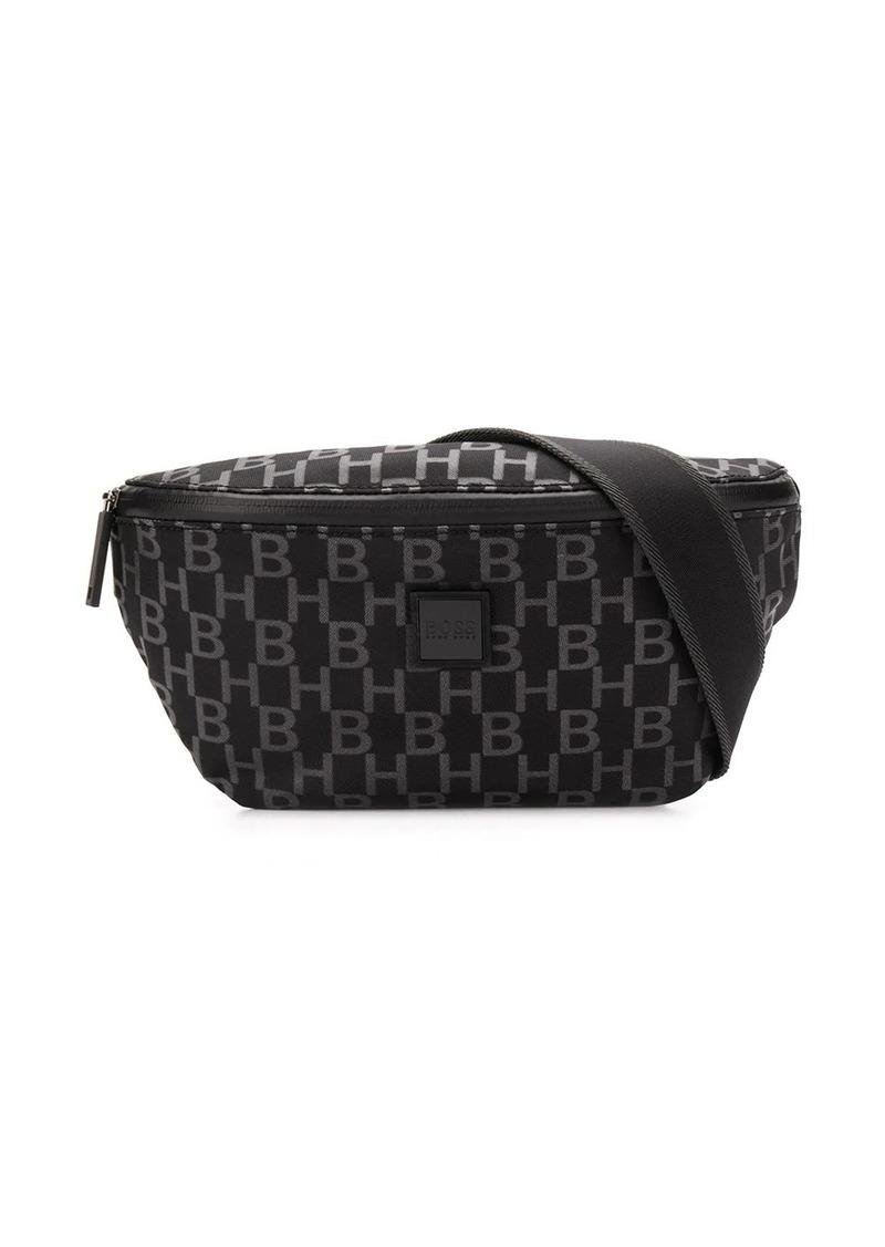 Hugo Boss monogram-print belt bag