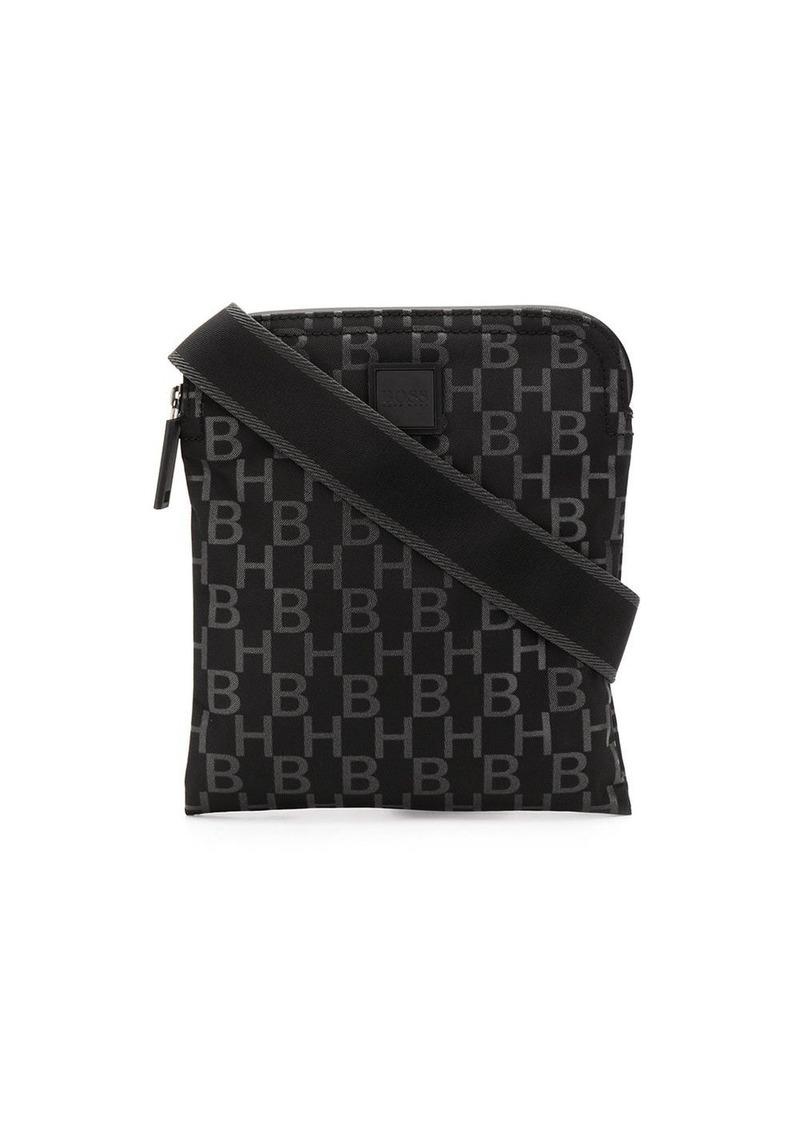 Hugo Boss monogram-print messenger bag