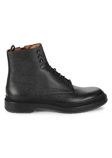 Hugo Boss Montreal Textured Leather Ankle Boots