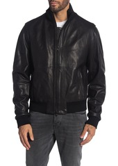 Hugo Boss Nalan Lamb Leather Bomber Jacket