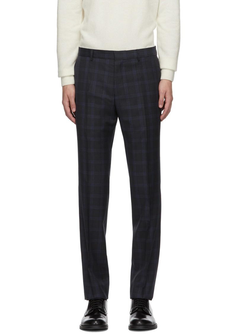 Hugo Boss Navy Check Genius Trousers