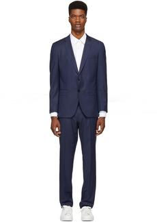 Hugo Boss Navy Check Huge 6 Genius 5 Suit