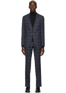 Hugo Boss Navy Checkered Novan6 & Ben2 Suit