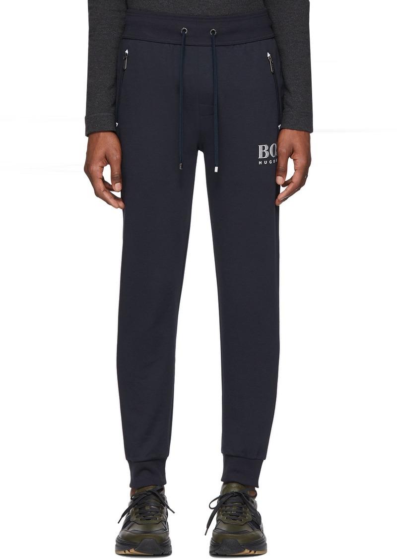 Hugo Boss Navy Cotton Track Pants