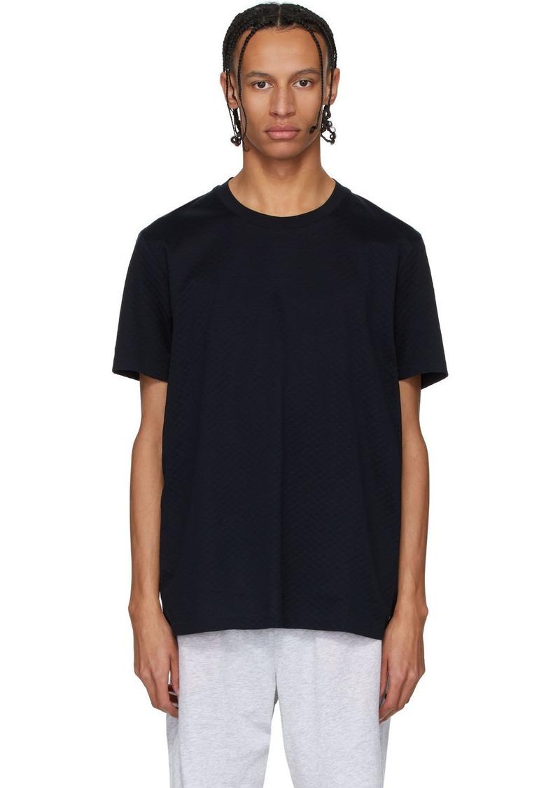 Hugo Boss Navy Fine Waffle Knit T-Shirt