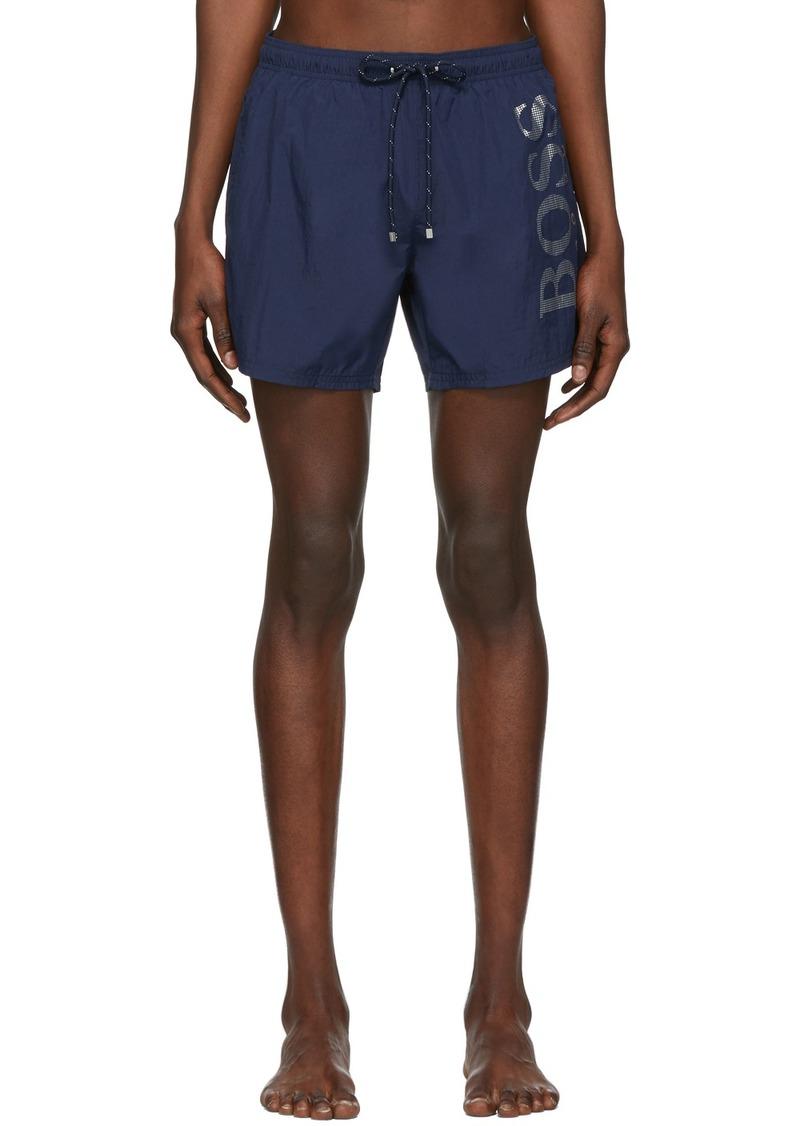 Hugo Boss Navy Logo Swim Shorts
