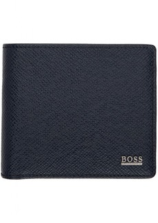 Hugo Boss Navy Signature 4CC Coin Wallet