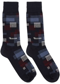 Hugo Boss Navy Square Socks