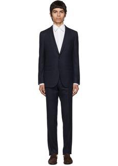 Hugo Boss Navy Virgin Novan Ben Check Suit