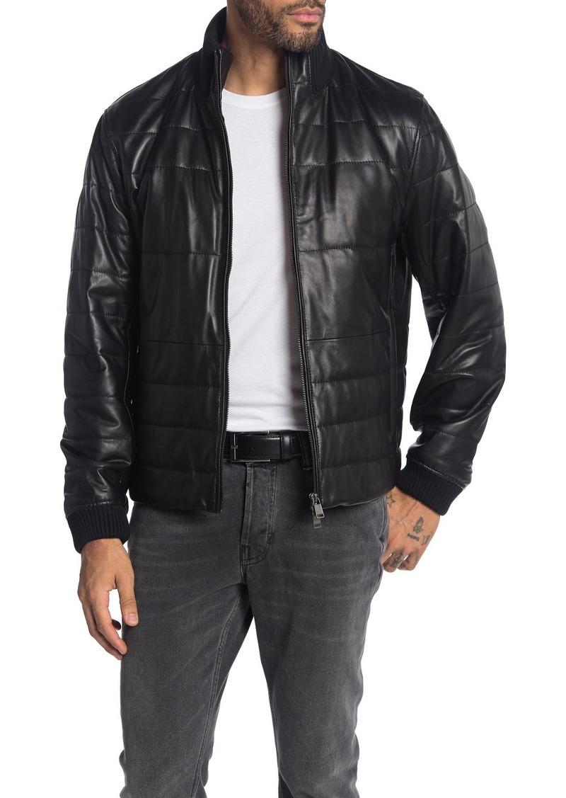 Hugo Boss Neffo Lamb Leather Quilted Jacket