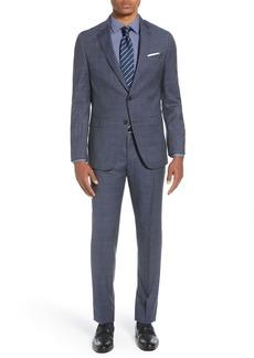 Hugo Boss Novan/Ben Trim Fit Check Wool Suit