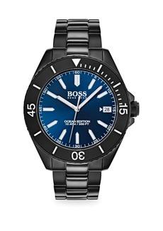 Hugo Boss Ocean Edition Ionic-Plated Black Steel Bracelet Watch