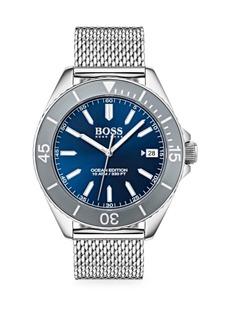 Hugo Boss Ocean Edition Stainless Steel Mesh Bracelet Watch