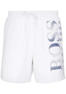 Hugo Boss Octopus logo-print swim shorts