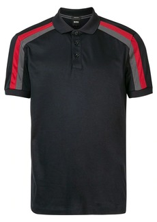 Hugo Boss panelled cotton polo shirt