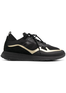 Hugo Boss panelled lace-up sneakers