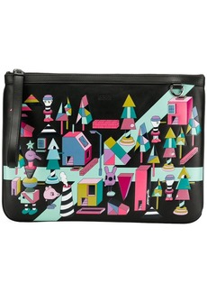 Boss Hugo Boss x Jeremyville patterned clutch