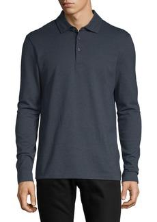 Hugo Boss Paver Long-Sleeve Cotton Polo