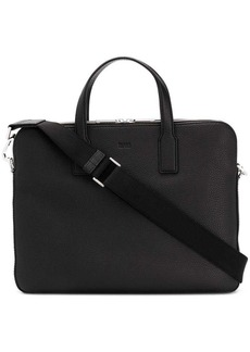 Hugo Boss pebbled laptop bag