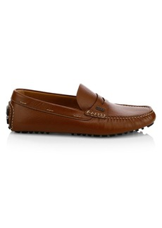 Hugo Boss Pebbled Leather Moccasin Drivers