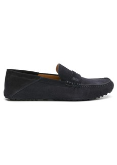 Hugo Boss penny-slot suede loafers