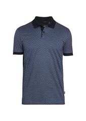 Hugo Boss Phillipson Geometric Slim Fit Polo