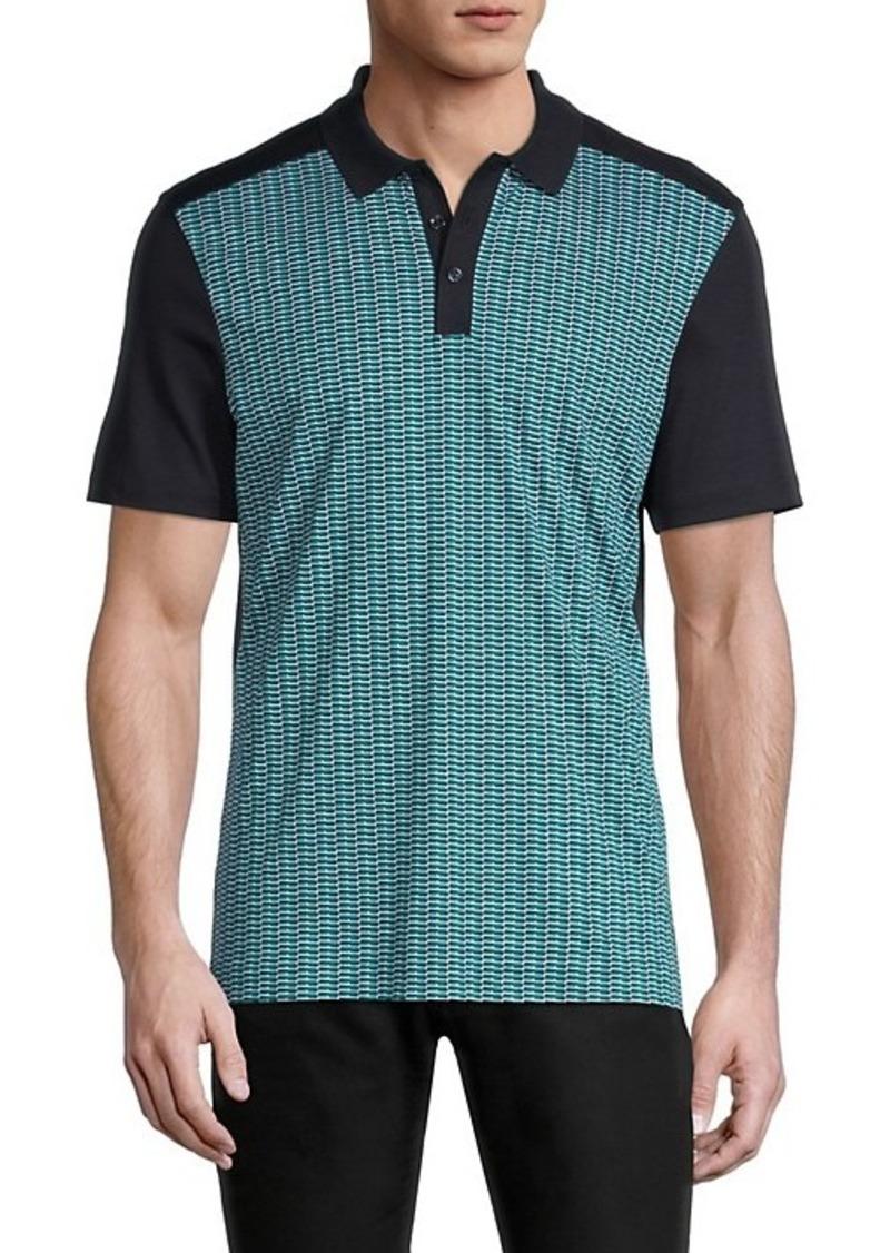 Hugo Boss Piket Print-Front Polo Shirt