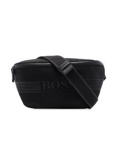 Hugo Boss Pixel logo-print crossbody bag