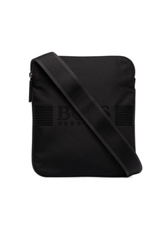 Hugo Boss Pixel logo-print shoulder bag