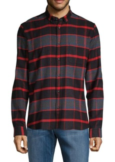 Hugo Boss Plaid Straight-Fit Button-Down Shirt