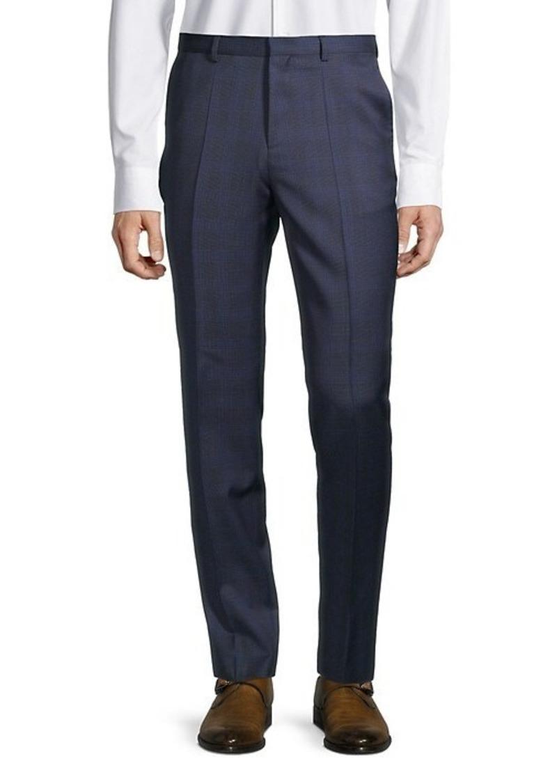 Hugo Boss Plaid Wool Pants