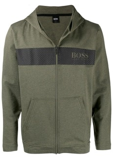 Hugo Boss printed hooded jacket