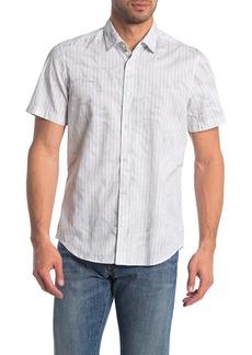 Hugo Boss Rash Regular Fit Stripe & Wrinkle Print Shirt