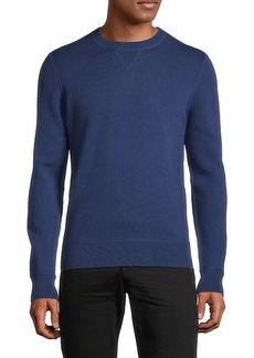 Hugo Boss Regular-Fit Cotton & Virgin Wool-Blend Sweater