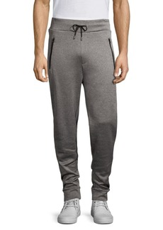Hugo Boss Regular-Fit Derg Leather Piping Sweatpants
