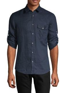 Hugo Boss Regular-Fit Linen Button-Down Shirt