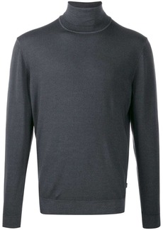 Hugo Boss roll neck fitted sweater