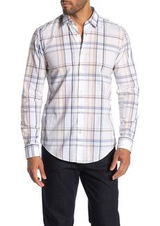 Hugo Boss Ronni Plaid Print Slim Fit Shirt