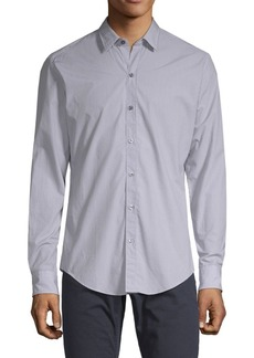 Hugo Boss Sharp-Fit Printed Cotton Button-Down Shirt