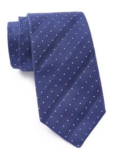 Hugo Boss Silk Angled Dotted Stripe Tie