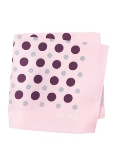 Hugo Boss Silk Dot Print Pocket Square