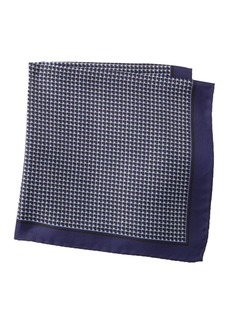 Hugo Boss Silk Grid Pocket Square