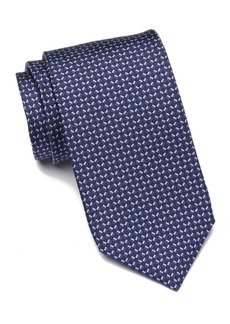 Hugo Boss Silk Grid Print Tie